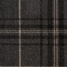 Midas Tartan Carpet - Grey / Ivory