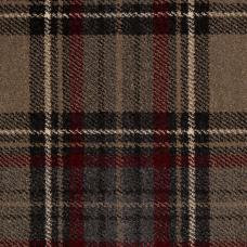 Midas Tartan Carpet - Grey / Red