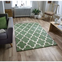 Arabesque Trellis Rug - Sage Green
