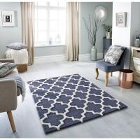 Arabesque Trellis Rug - Slate