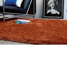 Diva Soft Touch Shaggy Rug - Orange
