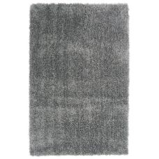 Diva Soft Touch Shaggy Rug - Silver