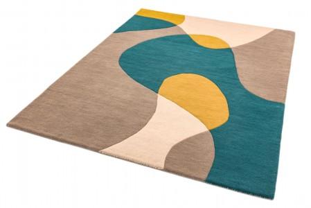 Matrix Modern Wool Rug - Arc Taupe