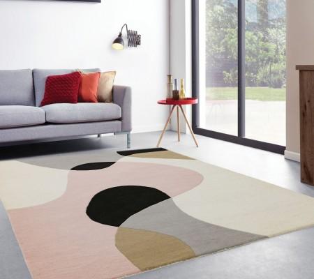 Matrix Modern Wool Rug - Arc Pastel
