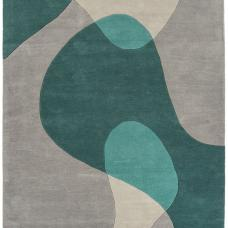 Matrix Modern Wool Rug - Arc Teal