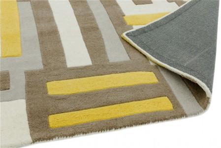 Matrix Geometric Wool Rug - Code Yellow
