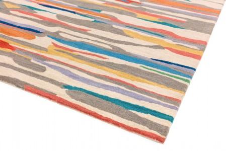 Matrix Modern Wool Rug - Ping Multi