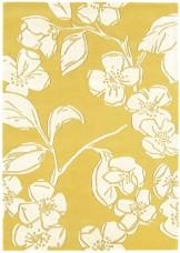 Matrix Floral Wool Rug - Devore Yellow