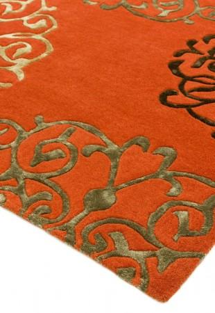 Matrix Modern Wool Rug - Tangier Terra