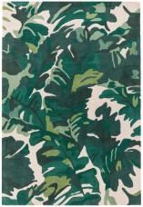 Matrix Floral Wool Rug - Palm Green