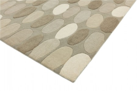 Matrix Geometric Wool Rug - Sofia Natural