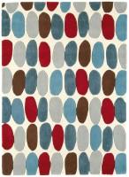 Matrix Geometric Wool Rug - Sofia Red/Teal
