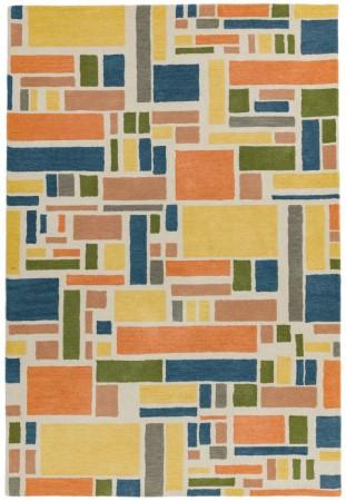 Reef Geometric Wool Rug - Blocks Multi
