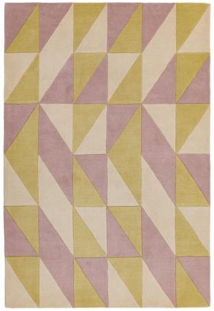 Reef Geometric Wool Rug - Flag Pink
