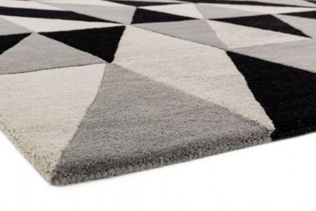 Reef Geometric Wool Runner - Flag Grey