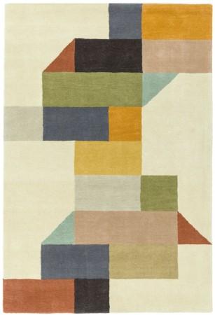 Reef Geometric Wool Rug - Modern Multi
