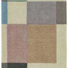 Reef Geometric Wool Runner - Blocks Pastel