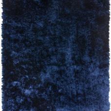 Whisper Shiny Silky Shaggy Rug - Navy Blue