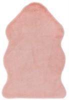 Willow Faux Fur Rectangular Rug - Pink
