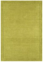 York Luxurious Plain Wool Rug - Green