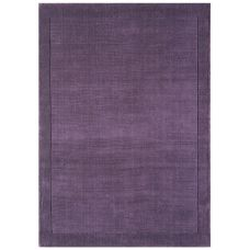 York Luxurious Plain Wool Rug - Purple