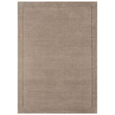 York Luxurious Plain Wool Rug - Taupe