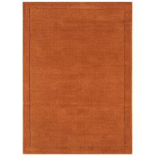 York Luxurious Plain Wool Rug - Terracotta
