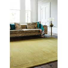 York Luxurious Plain Wool Rug - Yellow