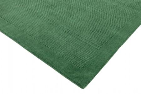 York Luxurious Plain Wool Rug - Forest