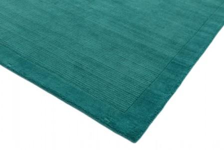 York Luxurious Plain Wool Rug - Teal