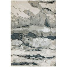Aurora Abstract High Shine Rug - Quartz AU05