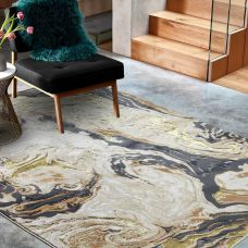 Aurora Abstract High Shine Rug - Marble AU08