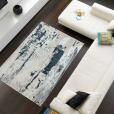 Aurora Abstract High Shine Rug - Glacier AU10