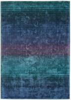 Holborn Velvety Viscose Striped Rug - Indigo