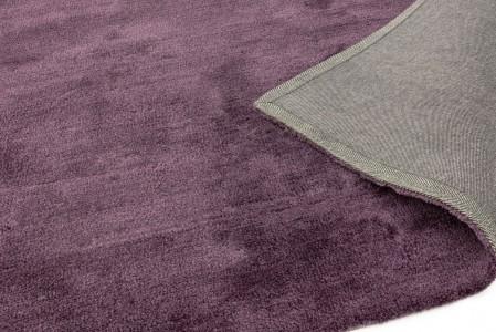 Milo Soft Lustrous Shaggy Rug - Purple