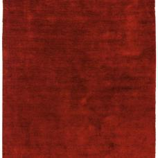 Milo Soft Lustrous Shaggy Rug - Red