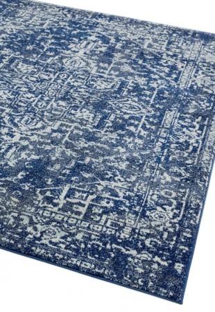 Nova Traditional Hardwearing Rug - Antique Blue NV11