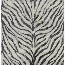 Nova Animal Print  Hardwearing Rug - Zebra NV27
