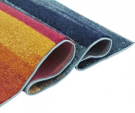 Nova Modern Hardwearing Rug - Stripe Multi NV05