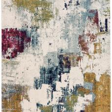Nova Modern Hardwearing Rug - Abstract Mustard NV22