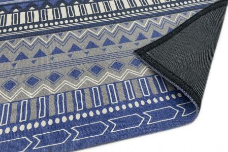 Onix Cotton Rug - Tribal Mix Blue