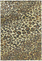 Quantum High Shine Animal Print Rug - Leopard