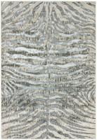 Quantum High Shine Animal Print Rug - Zebra