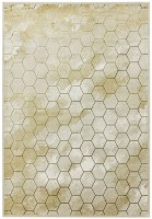 Quantum High Shine Geometric Rug - Honeycomb