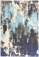 Saturn Abstract Wool Rug - Blue