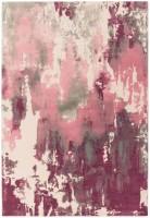Saturn Abstract Wool Rug - Pink
