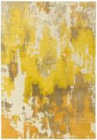 Saturn Abstract Wool Rug - Yellow