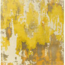 Saturn Abstract Wool Rug - Yellow