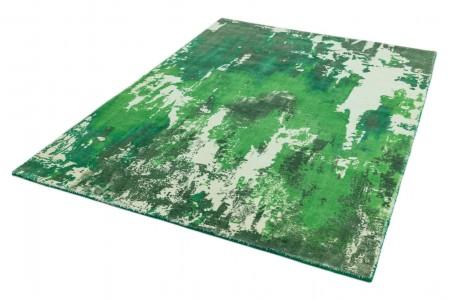 Saturn Abstract Wool Rug - Green