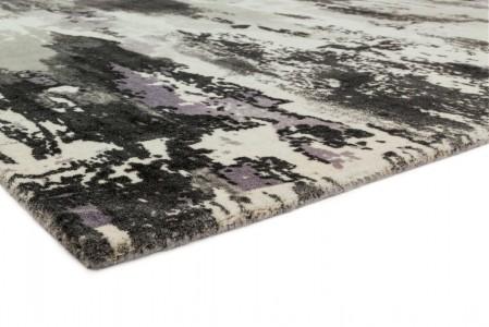 Saturn Abstract Wool Rug - Heather
